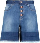 See by Chloe Frayed denim shorts