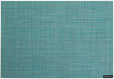 Chilewich Mini Basketweave Rectangle Placemat - Turquoise