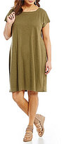Eileen Fisher Plus Square Neck Dress