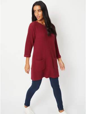 George Burgundy Textured Tunic Top