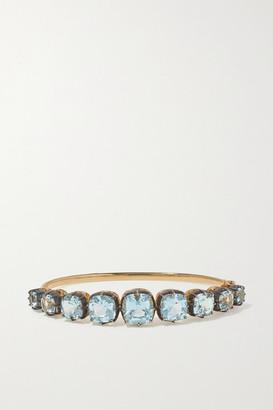 Fred Leighton Collection Silver-topped 18-karat Gold Topaz Bracelet