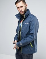 Columbia Inner Limits Hooded Jacket Waterproof Tricolour In Navy