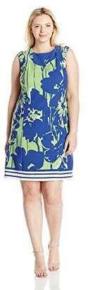 Julian Taylor Women's Plus Size Floral Printed Sheath Dress
