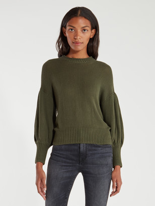 NSF Elsie Drop Shoulder Balloon Sleeve Crewneck Sweater