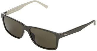 Salvatore Ferragamo SF938SM (Dark Grey/Red) Fashion Sunglasses