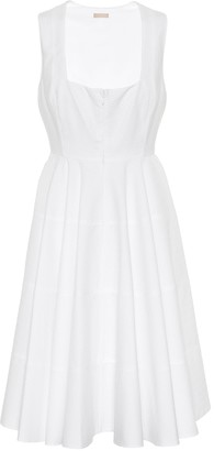 Alaia Textured cotton dress