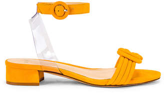 Alexandre Birman Vicky Ankle Sandal in Sunflower & Transparent | FWRD