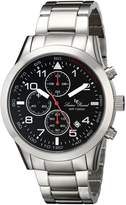 Lucien Piccard Men's LP-13347-11 Vertex Analog Display Japanese Quartz Silver Watch