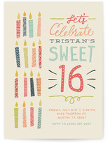 Minted Sixteen Candles Sweet Sixteen Party Invitations