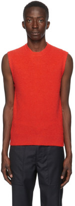 Lanvin Red Sleeveless Vest