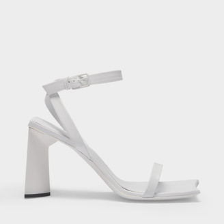 Balenciaga Moon 90Mm Sandals In White Leather
