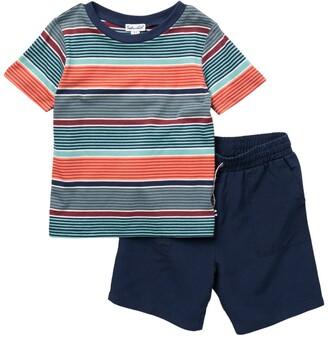 Splendid Stripe Tee & Shorts Tee