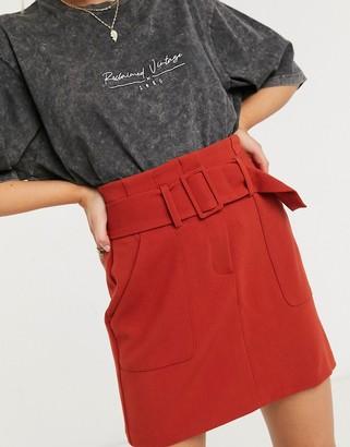 New Look utilty skirt in rust