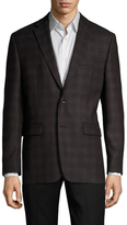 Vince Camuto Checkered Notch Lapel Sportcoat