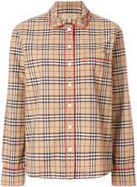 Burberry check pajama style shirt