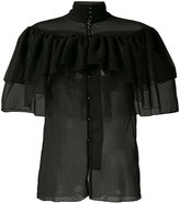 Rodarte frilled sheer shirt