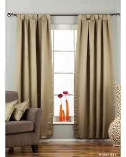 Indian Selections Olive Green Tab Top 90% blackout Curtain / Drape / Panel - Piece