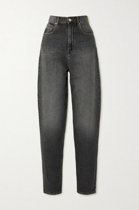 Etoile Isabel Marant Corsy High-rise Tapered Jeans - Gray