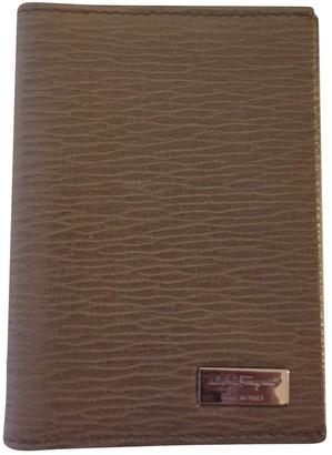Salvatore Ferragamo Beige Leather Small bags, wallets & cases