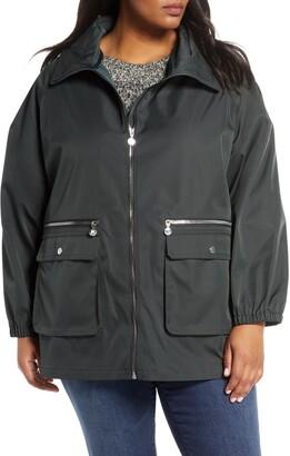 Bernardo Short Water Resistant Rain Jacket