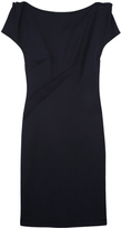 Navy Asephia Fitted Dress