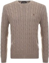 Ralph Lauren Cable Knit Jumper Brown