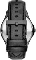 Armani Exchange A|X Men's Black Leather Strap Watch 45mm AX2148