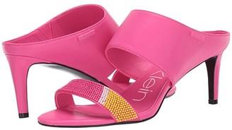 Calvin Klein Cecily (Black/Scuba Yellow) High Heels