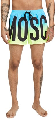 Moschino Logo Faded Swim Trunks