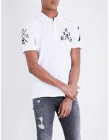 Philipp Plein Skull-embroidered Cotton-piqué Polo Shirt