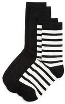 Kate Spade Sparkle Crew Socks, Set of 2