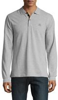 Burberry Spread Collar Cotton Polo Shirt