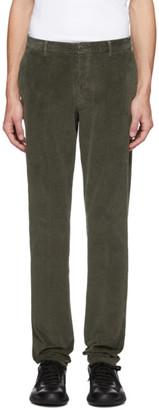 Ermenegildo Zegna Green Corduroy Long Sport Trousers