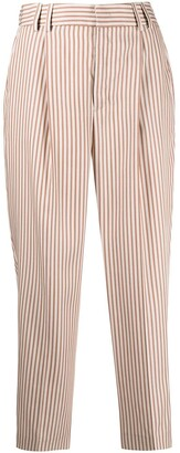 Pt01 Striped High-Waisted Trousers