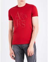 Armani Jeans Rubberised Logo-print Cotton-jersey T-shirt