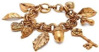 Etro Chunky Charm Bracelet - Womens - Gold