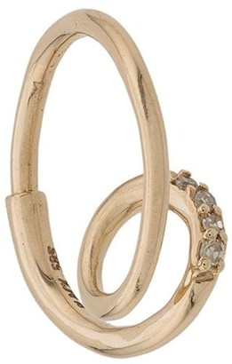 Maria Black 14kt yellow gold Acrobat diamond hoop earring