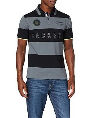 Hackett London Men's's Aston Martin Racing Yd Str Polo Shirt,Medium