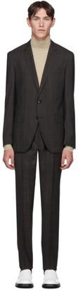 HUGO BOSS Brown Window Pane Suit