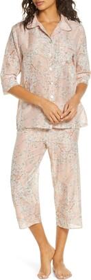 Papinelle Cherry Blossom Cotton & Silk Crop Pajamas