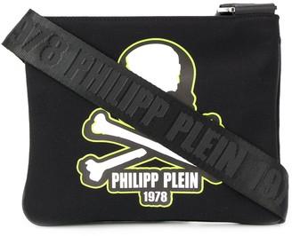 Philipp Plein Skull Patch Messenger Bag
