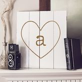 Cathy's Concepts Cathys concepts Personalized White Rustic Heart Wood Wall Art