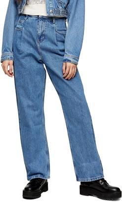 Topshop Pleat Dad Jeans