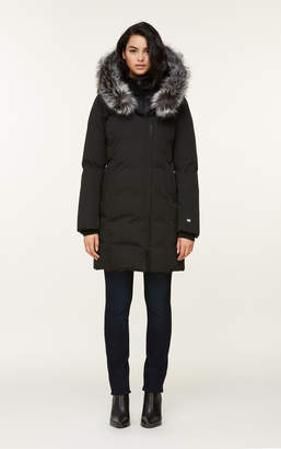 Soia & Kyo SALMA classic down coat with removable silver fur