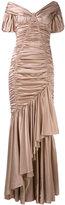 Dolce & Gabbana off-shoulder gathered dress