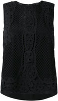 Twin-Set applique detail tank - women - Cotton/Polyester/Viscose - 38