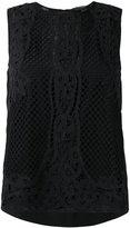 Twin-Set applique detail tank - women - Cotton/Viscose/Polyester - 38