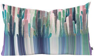 "Deny Designs Iveta Abolina Cacti Stripe Pastel Oblong Throw Pillow, 23""x14"""
