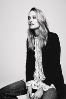 Free People Womens SLOUCHY VELVET BLAZER