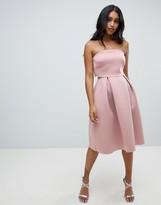 Asos Design DESIGN Bandeau crop top midi prom dress